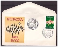 Andorra Spanish 1972 FDC CEPT Europa Europe - Europa-CEPT