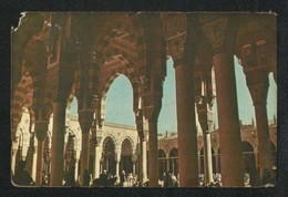 Saudi Arabia Old Picture Postcard Interior View Of The Prophet's Mosque Medina View Card AS PER SCAN - Saudi Arabia