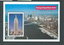 Nevis 1992 Empire State Building / New York Stamp Show Miniature Sheet MNH - St.Kitts And Nevis ( 1983-...)