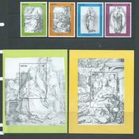Nevis 1991 Durer Paintings Christmas Set 4 & Both Miniature Sheets MNH - St.Kitts And Nevis ( 1983-...)