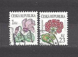 Czech Republic 2007 Gest ⊙ Mi 514-515 Sc 3345, 3347 Flowers Cyclamen, Geranium. C2 - Tchéquie