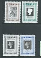 Nevis 1990 Penny Black Stamp Anniversary Set 4 MNH - St.Kitts-et-Nevis ( 1983-...)