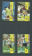 Nevis 1990 Soccer World Cup Set 4 MNH - St.Kitts And Nevis ( 1983-...)