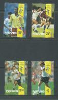 Nevis 1990 Soccer World Cup Set 4 MNH - St.Kitts-et-Nevis ( 1983-...)