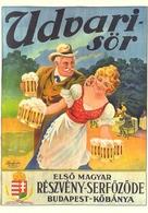 BEER * ALCOHOLIC DRINK * DREHER BREWERIES * KOBANYA BREWERY * WOMAN * MAN * Reg Volt S 005 * Hungary - Publicité