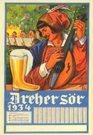 BEER * ALCOHOLIC DRINK * DREHER BREWERIES * KOBANYA BREWERY * LUTE * INSTRUMENT * Reg Volt S 007 * Hungary - Publicité