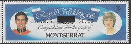 Montserrat SG O58 1982 Official $1 On $4 Good/fine Used [38/31708/1D] - Montserrat