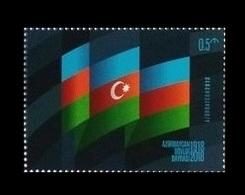 Azerbaïjan 2018 Mih. 1390 State Flag MNH ** - Azerbaïjan