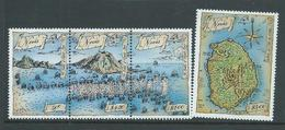Nevis 1989 Frigate Bay Sea Battle Set Of 4 MNH , 1 X $2 With Gum Glaze - St.Kitts-et-Nevis ( 1983-...)