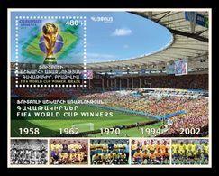 Armenia 2018 Mih. 1053 (Bl.86) Brazil Football National Team Five Times Winner Of FIFA World Cup MNH ** - Arménie