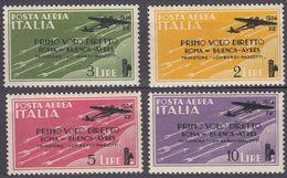 ITALIA - 1934 - Serie Completa Nuova MNH: Yvert Posta Aerea 52/55; 4 Valori, Come Da Immagine. - 1900-44 Victor Emmanuel III