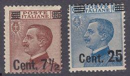 ITALIA - 1923/1924 - Lotto Di Due Valori Nuovi MH: Yvert 128b E 131,  Come Da Immagine. - 1900-44 Victor Emmanuel III
