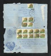 Tanzania 1987 Air Mail Postal Used Aerogramme Cover Tanzania To Pakistan  Animal - Tanzania (1964-...)