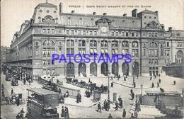 104927 FRANCE PARIS VIEW LA GARE STATION TRAIN & TRAMWAY DOUBLE POSTAL POSTCARD - France