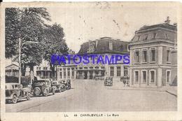 104946 FRANCE CHARLEVILLE LA GARE STATION TRAIN YEAR 1937 BREAK CIRCULATED TO ARGENTINA POSTAL POSTCARD - Sin Clasificación
