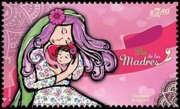 2018 MÉXICO DÍA DE LAS MADRES STAMP  MNH, MOTHER'S DAY, MOM AND CHILD - Mexique
