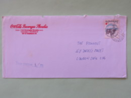 Slovakia 1998 Cover To England - Tax Cancel - Train - Slovaquie
