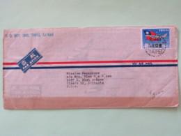 Taiwan 1962 Cover To USA - Plane - Flag - 1945-... République De Chine