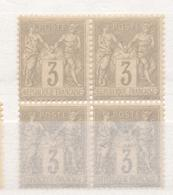 N°87 BLOC DE 4 TIMBRES NEUF ** GOMME D'ORIGINE. - 1876-1898 Sage (Type II)