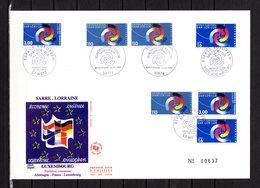 """"""" FRANCE - ALLEMAGNE - LUXEMBOURG SARR.LOR.LUX 1997 """" Sur Enveloppe 1er Jour Grand Format N°tée De 1997. Parf. état. FDC - Emissions Communes"""
