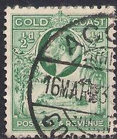 Gold Coast 1928 KGV 1/2d Blue Green SG 103 ( J1108 ) - Côte D'Or (...-1957)