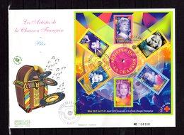 """"""" CLAUDE FRANCOIS DALIDA BARBARA FERRE BERGER GAINSBOURG """" Sur Env 1er Jour Gd Format De 2001 N°YT BF 107 Parf état. FDC - Musique"""