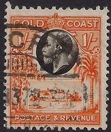 Gold Coast 1928 KGV 1/-d Black & Red Orange SG 110 ( K1152 ) - Côte D'Or (...-1957)
