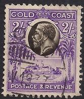 Gold Coast 1928 KGV 2/-d Black & Bright Violet SG 111 ( K1151 ) - Côte D'Or (...-1957)
