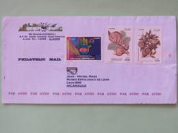 Algeria 2012 Cover To Nicaragua - Snails - International Exposition - Algérie (1962-...)