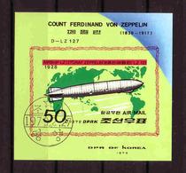 58b * NORDKOREA * ZEPPELIN BLOCK * GESTEMPELT **!! - Zeppeline