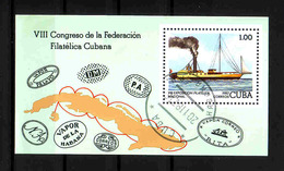 57b * CUBA BLOCK * SCHIFF FILATELICA CUBANA * GESTEMPELT **!! - Schiffe