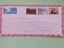 South Africa 1993 Cover To England - Lion Landscapes Coast Train - Afrique Du Sud (1961-...)