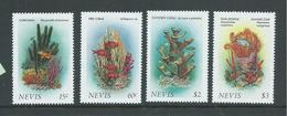 Nevis 1986 Marine Life & Coral Forms Set 4 MNH - St.Kitts And Nevis ( 1983-...)