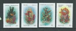 Nevis 1986 Marine Life & Coral Forms Set 4 MNH - St.Kitts-et-Nevis ( 1983-...)