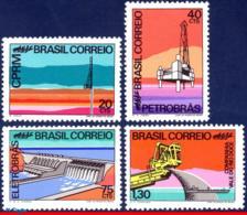 Ref. BR-1218-21 BRAZIL 1972 OIL, MINERAL RESOURCES, IRON,, HYDROELECTRIC DAM, MI# 1312-15, SET MNH 4V Sc# 1218-1221 - Brasilien