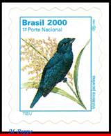 Ref. BR-2499A BRAZIL 2000 BIRDS, ANIMALS & FAUNA,VOLATINIA, JACARINA, MI# 2765, DEFINITIVE MNH 1V Sc# 2499A - Brésil