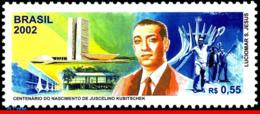 Ref. BR-2839 BRAZIL 2002 FAMOUS PEOPLE, JUSCELINO KUBITSCHEK,, PRESIDENT OF BRAZIL, MI# 3225, MNH 1V Sc# 2839 - Brasilien