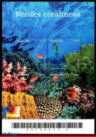 Ref. BR-2846 BRAZIL 2002 FISH, CORAL REEFS, SEAHORSE,, STARFISH, MI# B118, S/S MNH 4V Sc# 2846 - Brésil