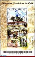 Ref. BR-2881 BRAZIL 2003 AGRICULTURE, COFFEE PLANTATIONS,, PLANTS, COFFEE FARM, MI# B122, S/S MNH 2V Sc# 2881 - Brasilien
