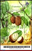 Ref. BR-2953 BRAZIL 2005 FRUITS, NATURE, CAPUACU FRUIT,, TREE, S/S MNH 2V Sc# 2953 - Brésil