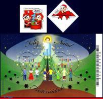 Ref. BR-3260-62 BRAZIL 2013 CHRISTMAS, CHARACTER OF COMICS,HAPPY, HOLIDAYS,FRATERNITY, S/S & SET MNH 4V Sc# 3260-3262 - Brésil