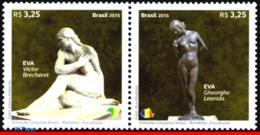 Ref. BR-3321 BRAZIL 2015 JOINT ISSUE, WITH ROMANIA, SCULPTURES,, ART, SET MNH 2V Sc# 3321 - Brésil
