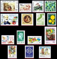 Ref. BR-L1970 BRAZIL 1970 ., LOT 15 STAMPS OF 1970,, SCOTT VALUE $20.45, ALL MNH VF 15V Sc# 1141A~1180 - Brésil