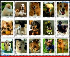 Ref. BR-V2018-09-1 BRAZIL 2018 - PETS, UPAEP, AMERICA, SERIES, DOGS, SET MNH, ANIMALS, FAUNA 15V - Brésil
