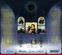 Ref. BR-V2018-16-2 BRAZIL 2018 - CHRISTMAS, 200 YEARS OF, �SILENT NIGHT� SONG, SOUVENIR SHEET MNH,2V - Noël