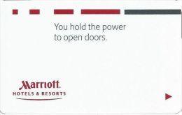 Marriott Hotels - Hotel Room Key Card - Cartes D'hotel