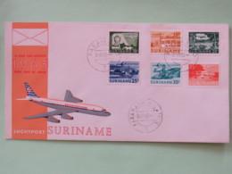 Surinam 1965 FDC Cover - Airport Planes - Surinam