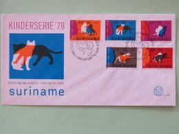 Surinam 1978 FDC Cover - Cats - Children Surtax - Surinam