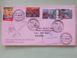 Brasil 2017 On 1995 FDC Cover To Nicaragua - History - Brasil Discovery - Revolution - Monte Castello - Brazil