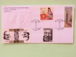 Brasil 2018 FDC Cover To Nicaragua - Yucca Mandioca - Vinicius De Moraes - Dorival Caymmi - Magnifying Glass Monument - Lettres & Documents